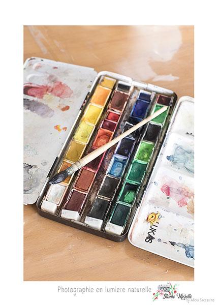 Palette de peinture pour une professeur d'arts et de peinture
